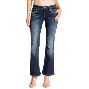 Miss Me Embellished Signature Boot Cut Jeans Blue